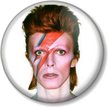 DAVID BOWIE Pinback Button Badge ALADDIN SANE ZIGGY STARDUST HUNKY DORY FACE